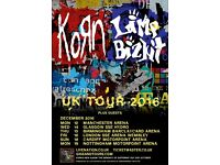 Korn and limp bizkit. SSE hydro glasgow. 14th December. Standing
