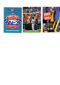 Baseball Chicago Cubs Schedules - 1987-1988-1989 West Island Greater Montréal image 1