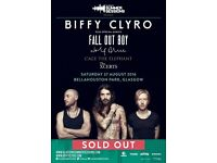 2 X Biffy Clyro Tickets Glasgow 27th Aug