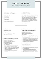 Je fais un superbe CV -I will create an awesome Resume - 25$-50$
