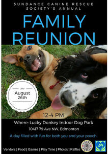 SUNDANCE CANINE RESCUE  Our 5th annual Family Reuinion!