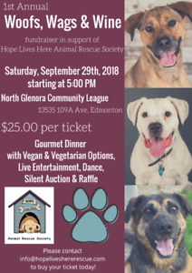 Woofs, Wags and Wine Fundraiser in support of Hope Lives Here