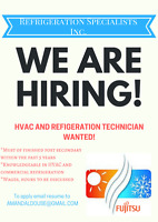 REFRIGERATION/H-VAC TECH WANTED