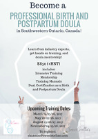 Birth and Postpartum Doula Training - Dual Certification