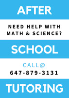 After School Math & Science Tutoring for all Grades