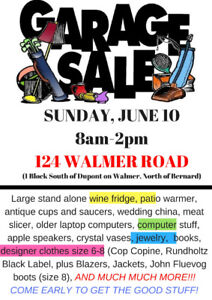 Awesome Garage Sale in the Annex!