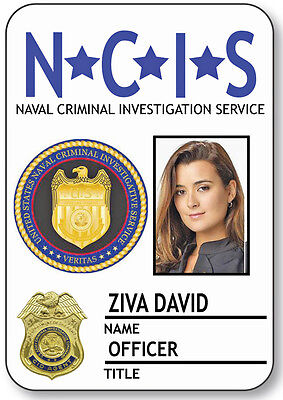 NAME BADGE HALLOWEEN COSTUME ZIVA DAVID SPECIAL AGENT NCIS MAGNETIC BACK](Ncis Halloween Special)