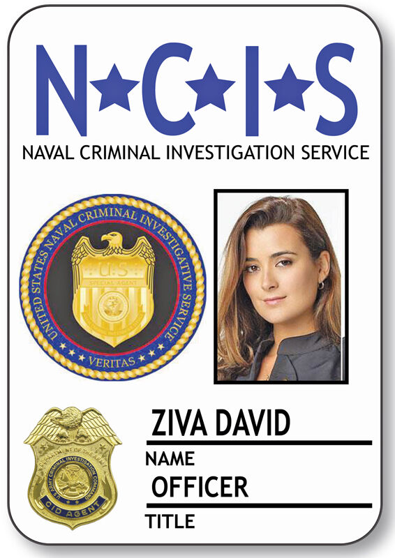 NAME BADGE HALLOWEEN COSTUME ZIVA DAVID SPECIAL AGENT NCIS MAGNETIC BACK