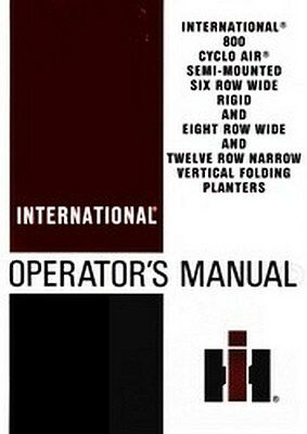 International 800 Cyclo Air Planter Operators Manual