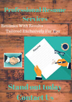 Need a Resume ? We can provide you with a Professional Resume!