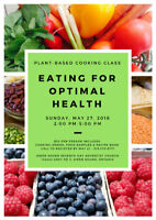 Eating For Optimal Health - Plant Based Cooking Class