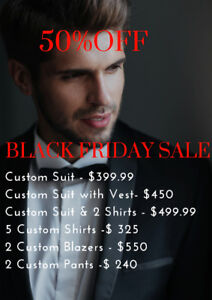Custom Made Suits! Black Friday Sale