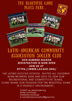 Children and Youth Soccer-Registration Open Summer 2018