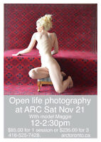 Artistic nude photography workshop with model Maggie.