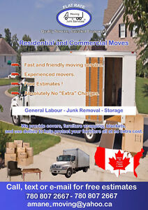 FLAT RATES OR HOURLY  moving**storage**delivery**junk services Edmonton Edmonton Area image 1