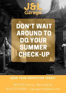 2017 SUMMER SPECIAL: General inspection + tire change