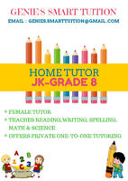 MATH, SCIENCE, ENGLISH, ETC. TUTOR JK- GRADE 8