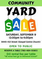 Community Yard Sale (Get a table and sell your stuff)!