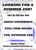 LOOKING FOR A FUN SUMMER JOB?