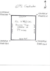 39 acres vacant land by Matheson, ON