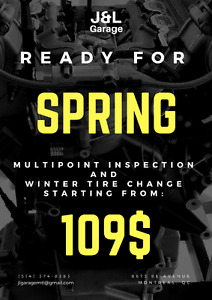 PROMOTION: Spring inspection + tires from 109$