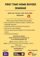 First Time Buyers Seminar.