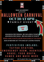 KIDS HALLOWEEN CARNIVAL AT MAS ACADEMY OF MARTIAL ARTS