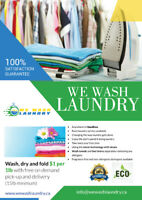 Wash & Fold laundry with free pickup & delivery