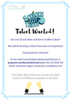 Seniors Got Talent! Looking for Performers!