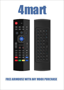 ANDROID TV  MBOX  BY 4MART , 6 MODELS, FREE AIRMOUSE KEYBOARD