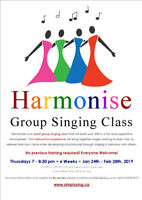 HARMONISE: Adult Group Singing Class! No Experience Required!