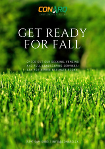 Get ready for fall: fencing, decking and landscaping services