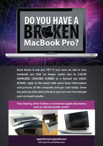 Get #INSTACASH for your broken macbook pro