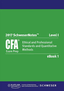 2017 cfa level 1 study package and practice Exam