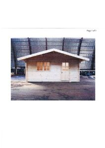 CLEARANCE  of  the LAST  LOG  CABIN  KIT  5m x 5m   BUNKY