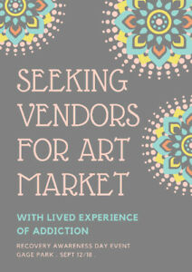 Seeking Artists/Crafters with lived experience of Addiction