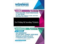 Wireless Festival tickets - SOLD OUT - 3 x Friday & Sunday Tickets (6 Total)