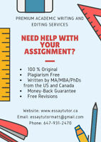 Premium Academic Writing and Editing Services by MA/PhDs