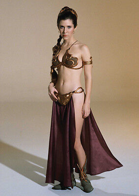Movie PHOTO 8.25x11.75 Princess Leia Carrie Fisher Jabba's Slave Bikini 05