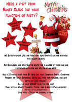 Santa Claus for your Christmas Party/Event