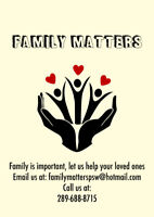 Family Matters PSW.   A family approach to Home Care
