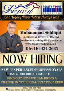 Legacy Realty Point is Hiring New and Experienced Realtors