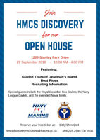 HMCS DISCOVERY (NAVY) Open House and Free Boat Rides