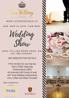 Wedding Show Bradford. March 24 11-6pm