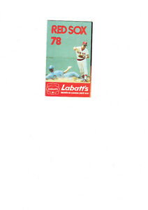 A 1978 Baseball Schedule of the Boston Red Sox - Mint  Rare West Island Greater Montréal image 1