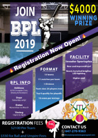 Cricket players required for an indoor cricket league