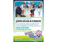 Rugbytots lead and assistant coaches