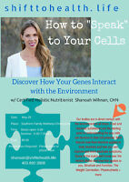 'How to Speak to Your Cells' - bring food donation or $5