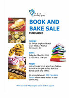 BOOK & BAKE SALE at St Philip's Anglican Church