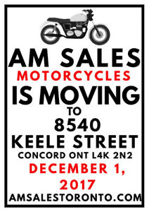 ****AM SALES MOTORYCES IS MOVING****